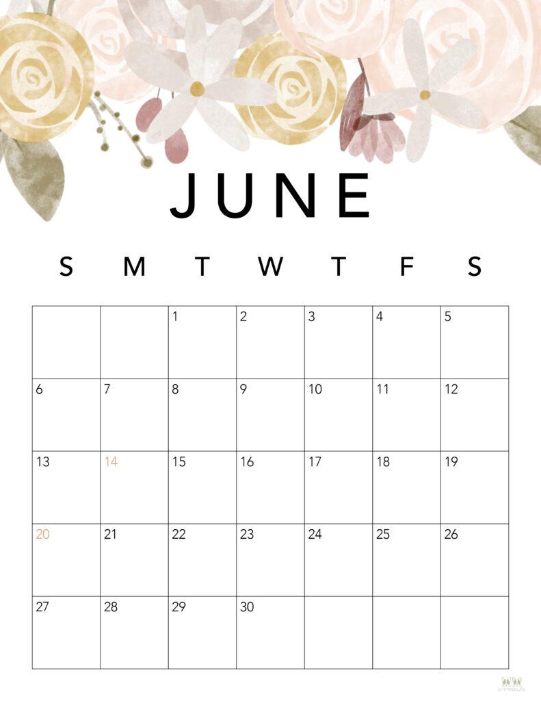 Printable June 2021 Calendar-Style 4