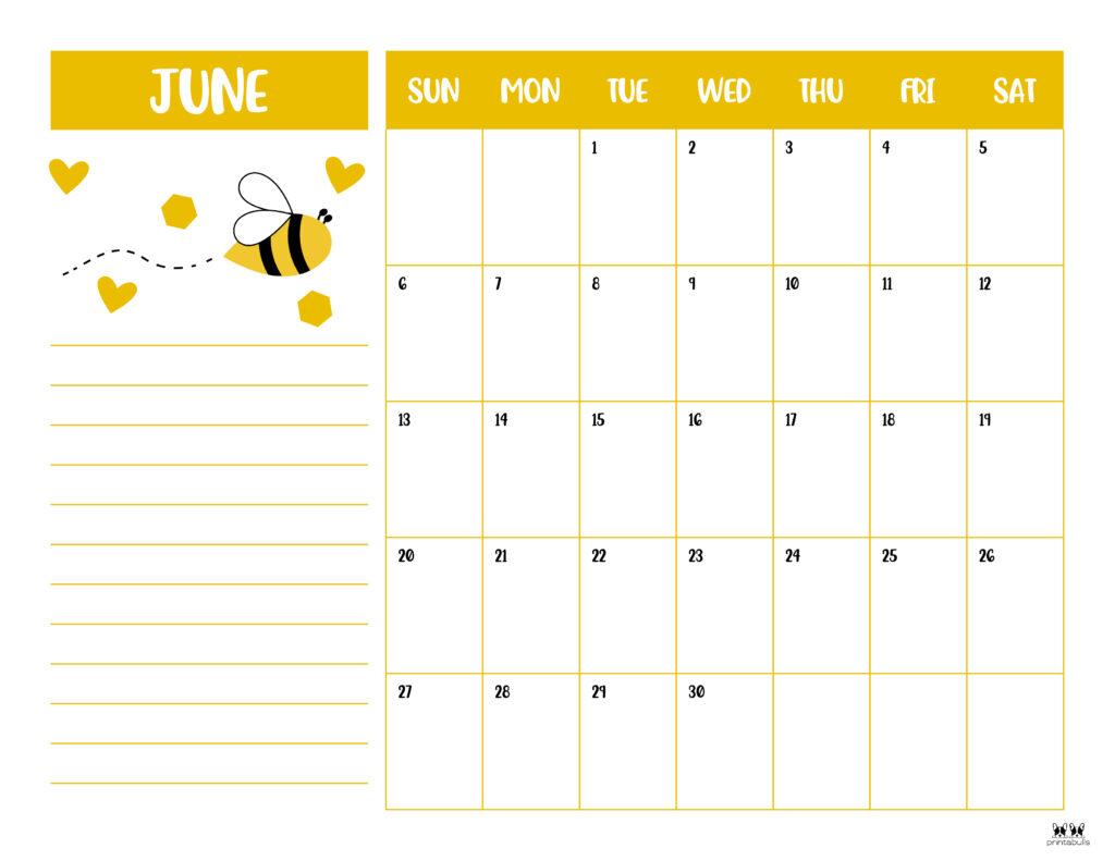Printable June 2021 Calendar-Style 6