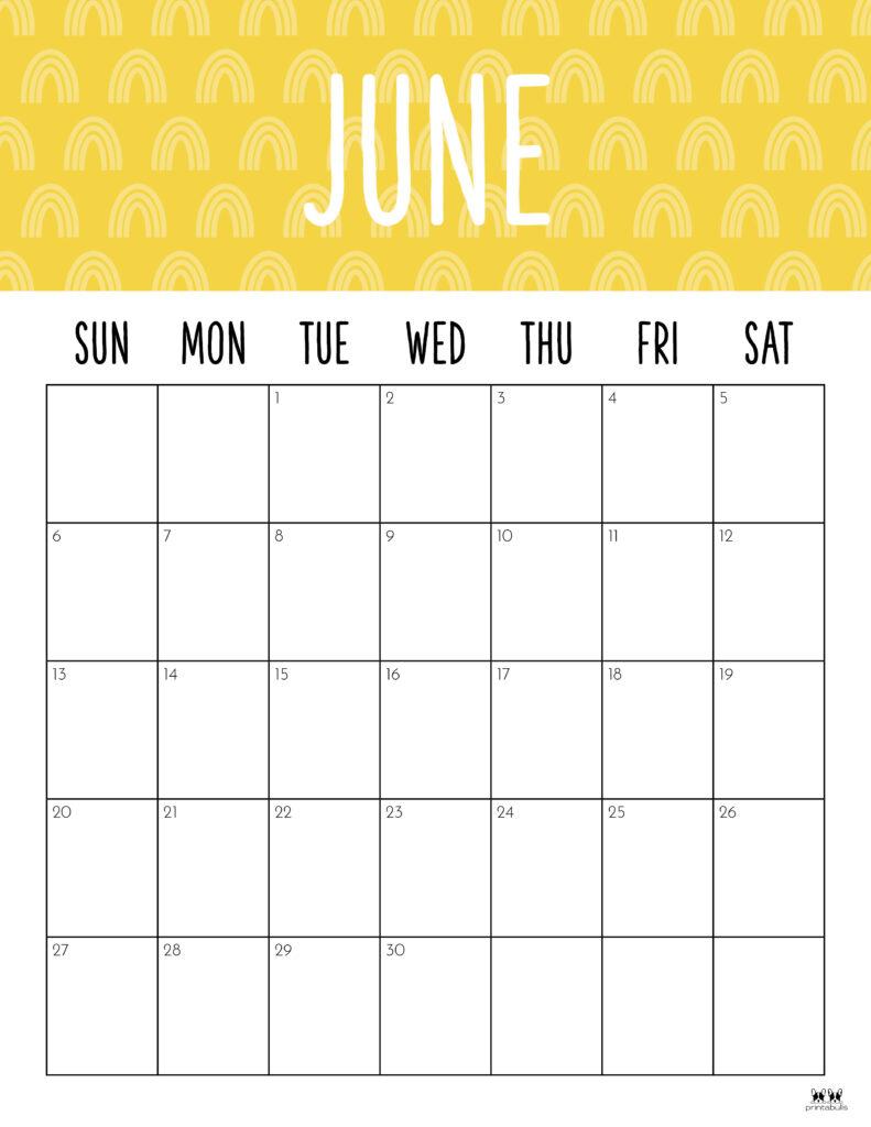 Printable June 2021 Calendar-Style 9
