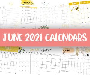 printable june 2021 calendars