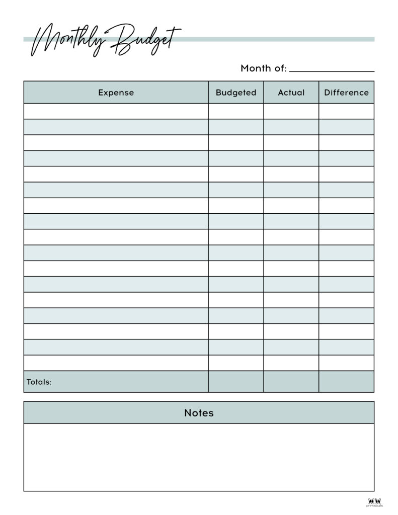 Monthly Budget Template-Page 2