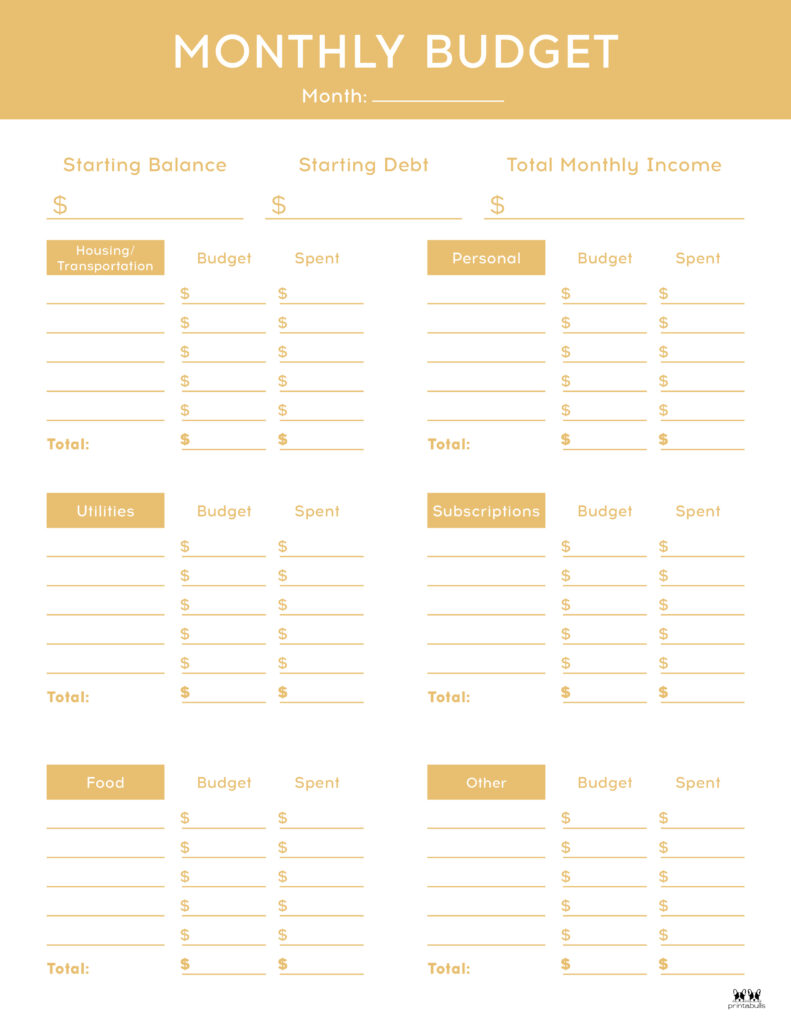 Monthly Budget Template-Page 3