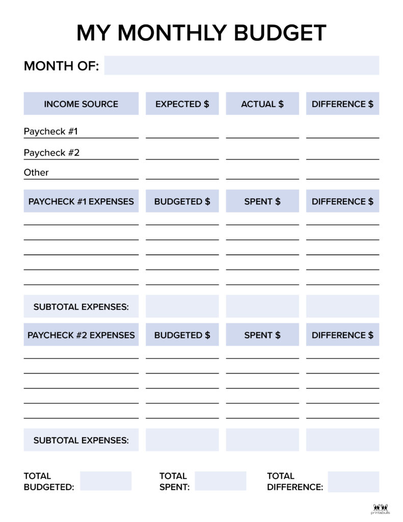Monthly Budget Template-Page 5