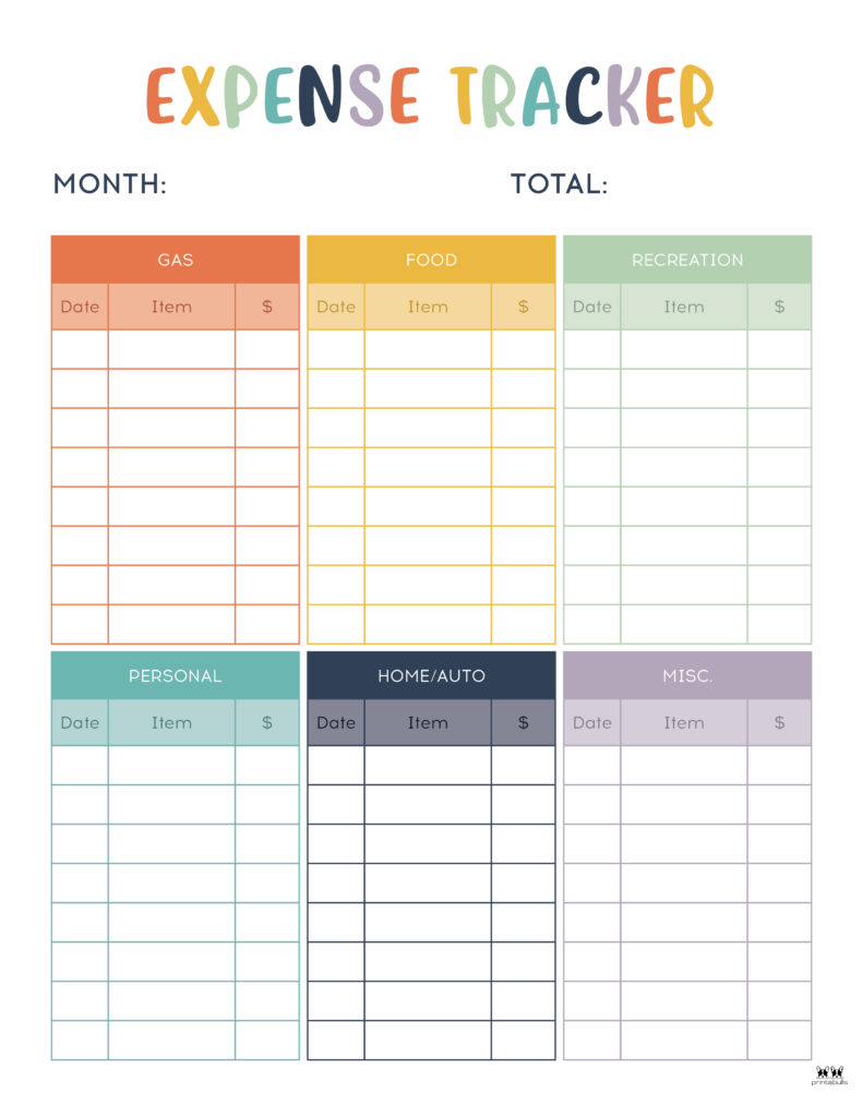 Printable Expense Tracker-Page 16