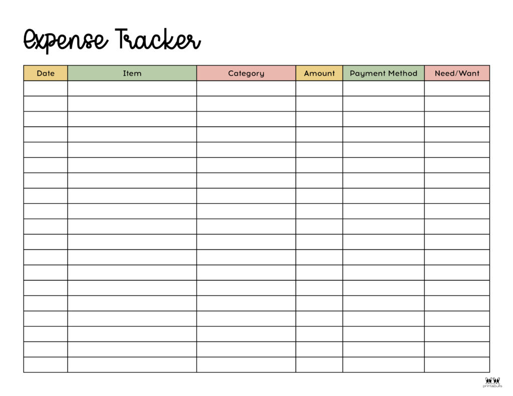 Printable Expense Tracker-Page 6
