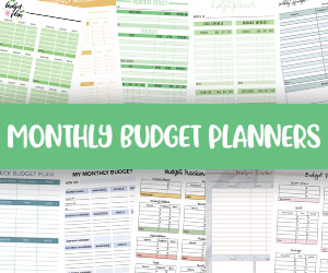 printable monthly budget planners
