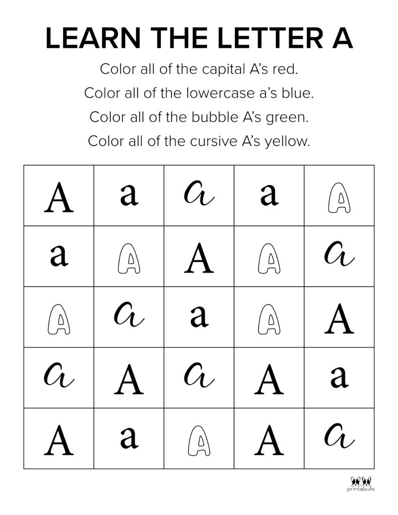 Letter A Worksheet-Page 13