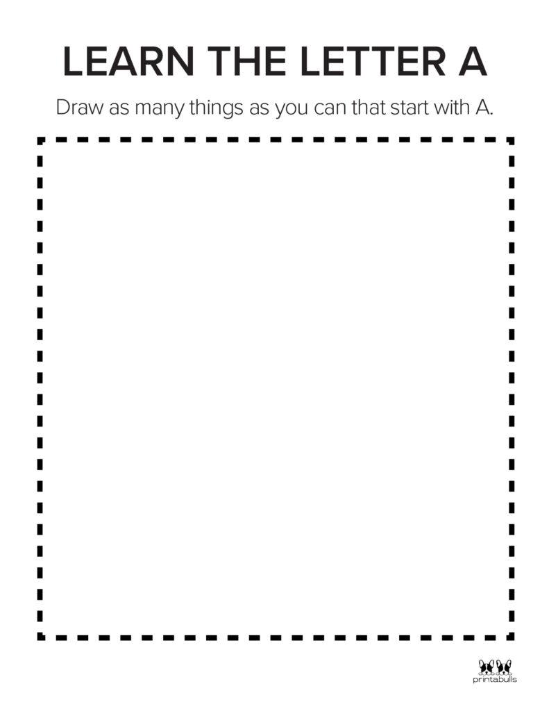 Letter A Worksheet-Page 15