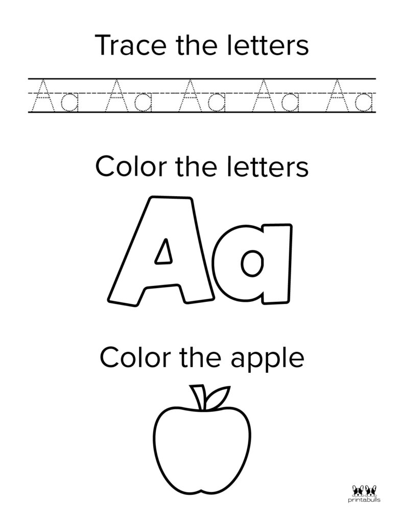 Letter A Worksheet-Page 2