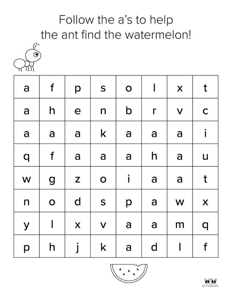 Letter A Worksheet-Page 29