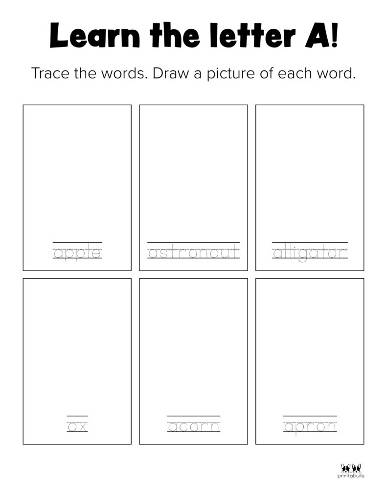 Letter A Worksheet-Page 33