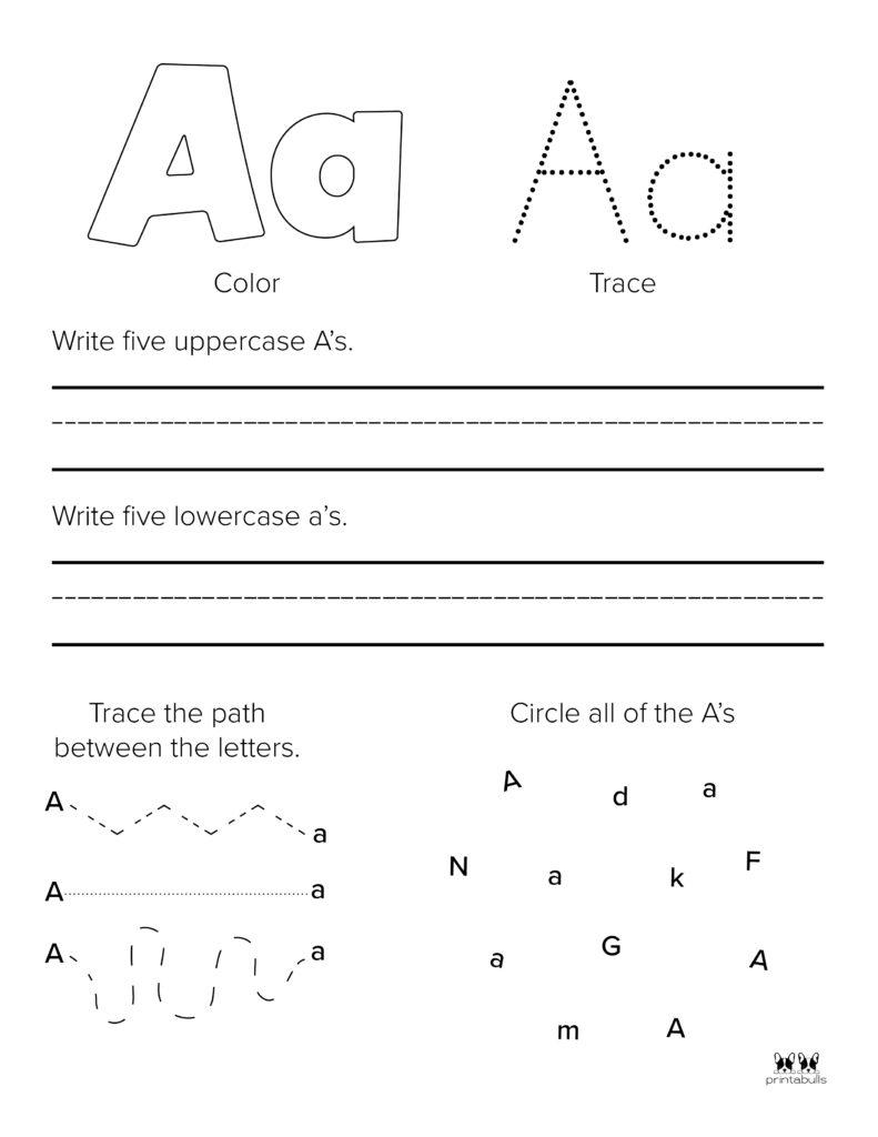 Letter A Worksheet-Page 34