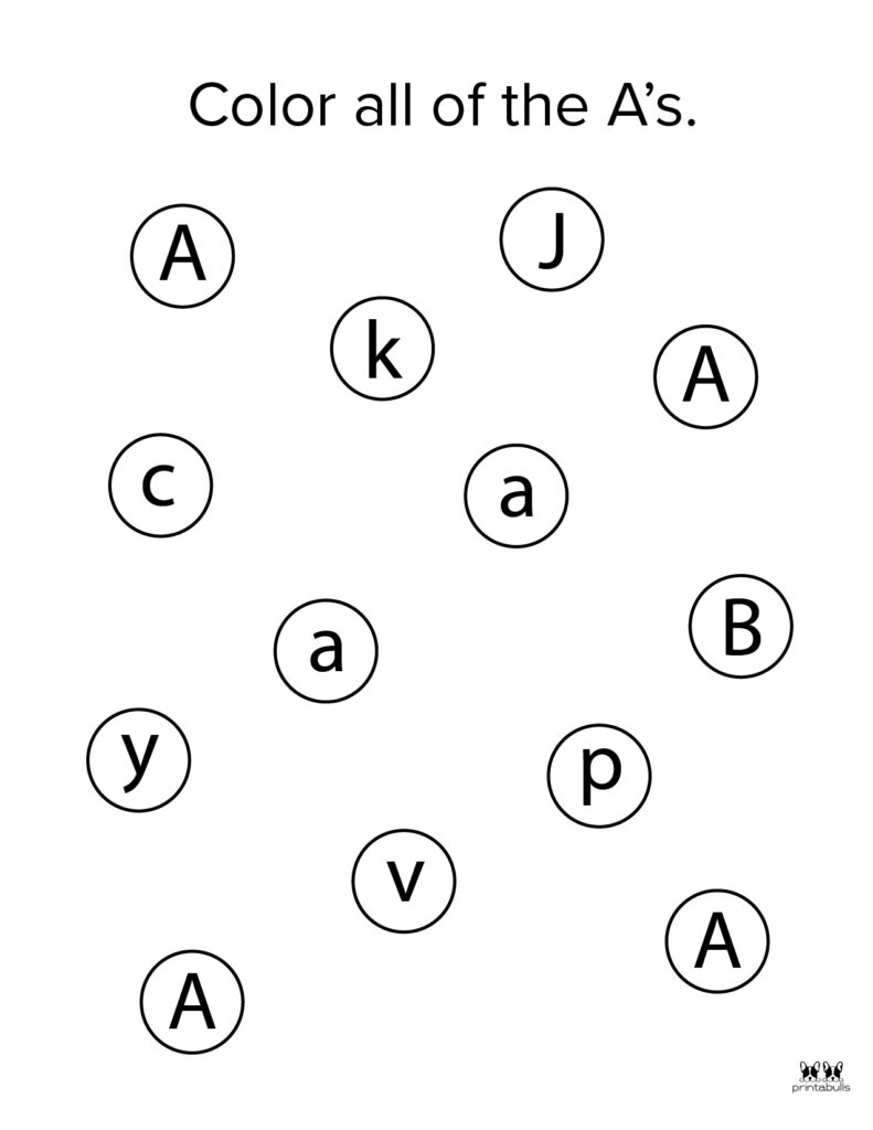 Letter A Worksheet-Page 36