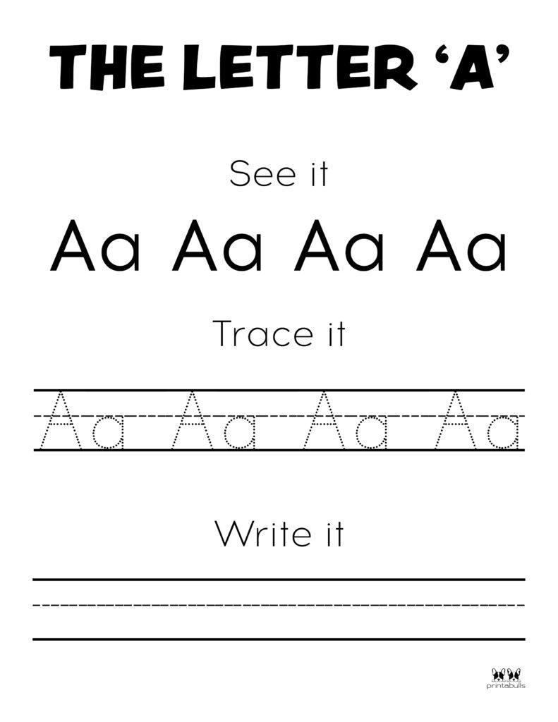 Letter A Worksheet-Page 4