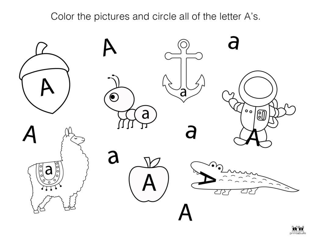 Letter A Worksheet-Page 48