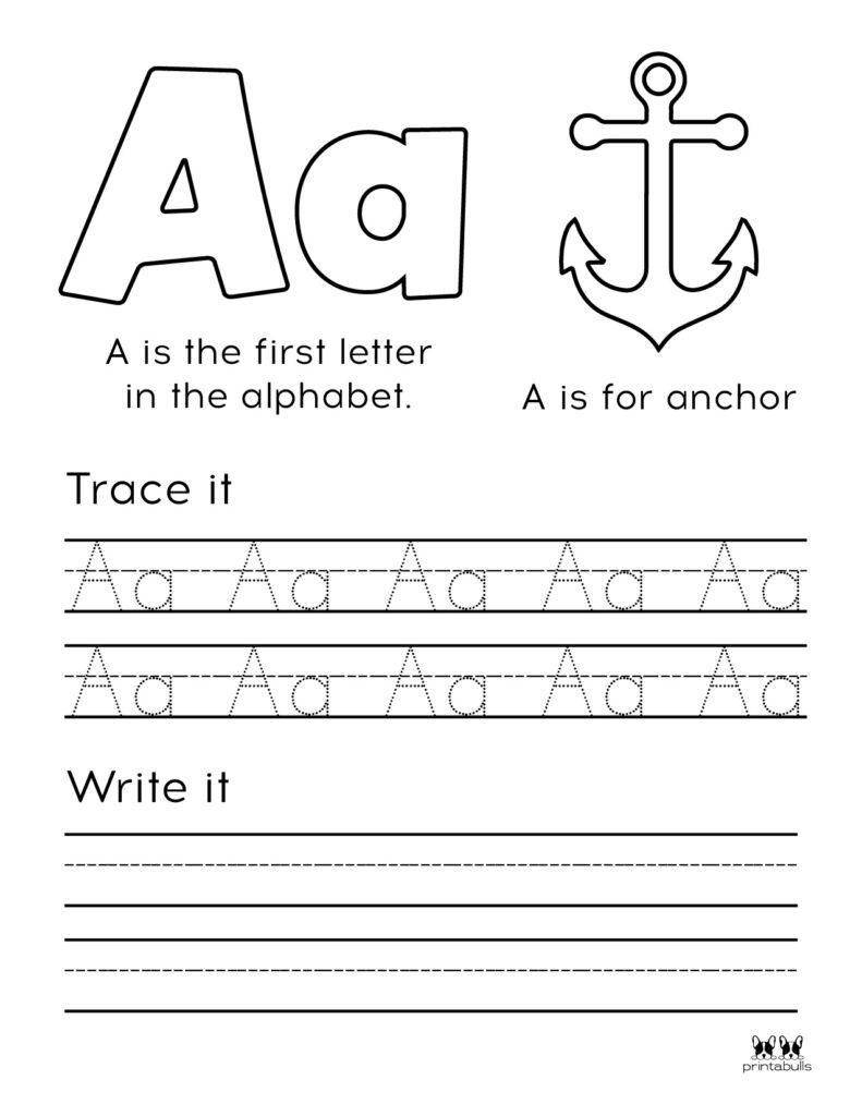 Letter A Worksheet-Page 5