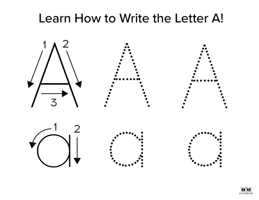 Letter A Worksheet-Page 7