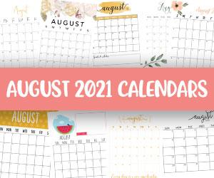 printable august 2021 calendars