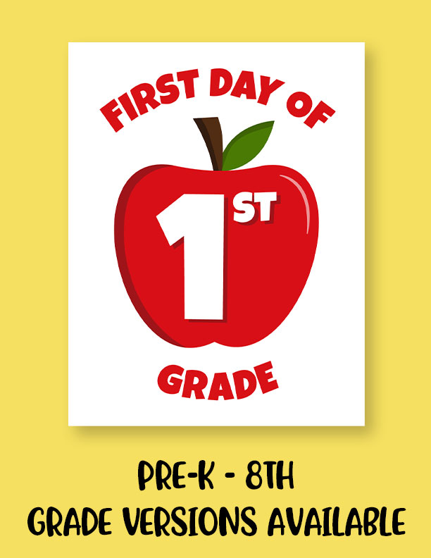 Printable-First-Day-of-School-Sign-Set-1