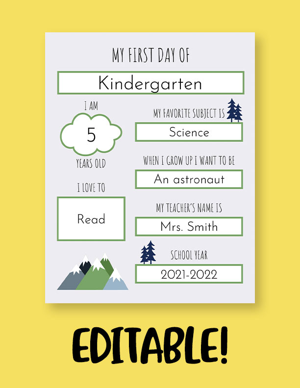Printable-First-Day-of-School-Sign-Set-34-Editable