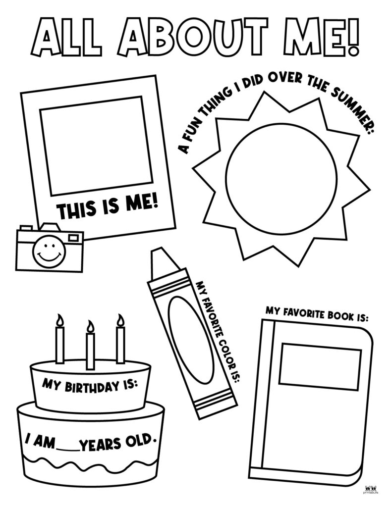Printable All About Me Worksheet-Page 1