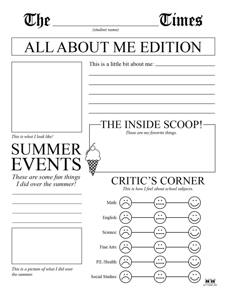 Printable All About Me Worksheet-Page 10