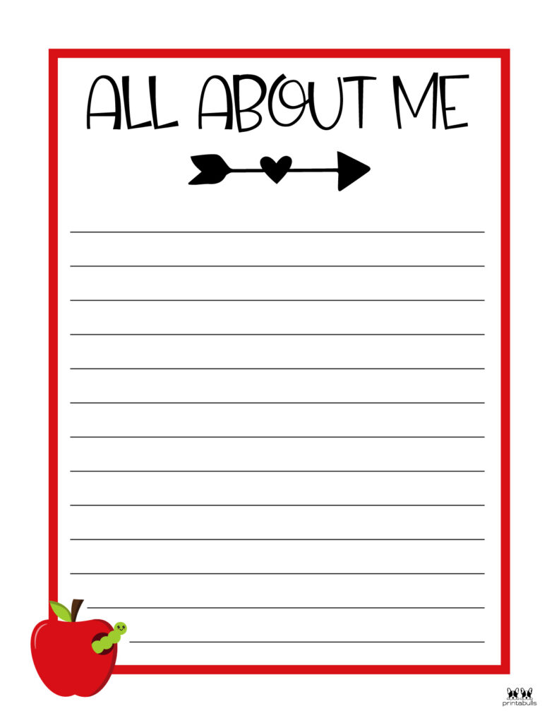 Printable All About Me Worksheet-Page 11