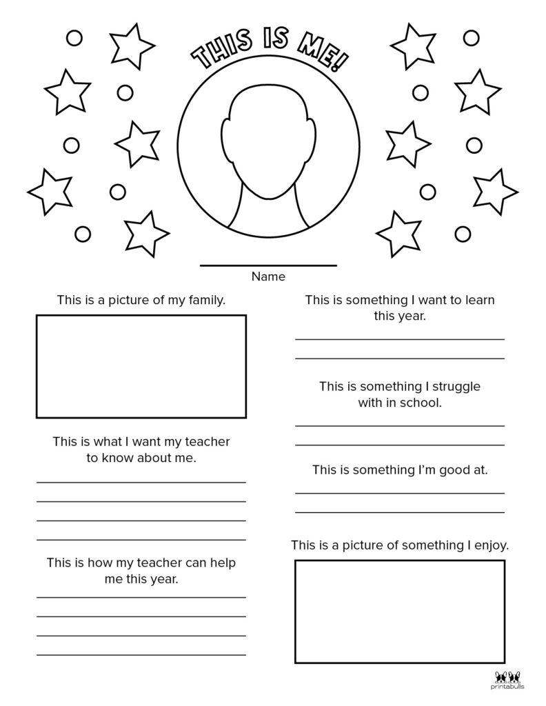 Printable All About Me Worksheet-Page 13