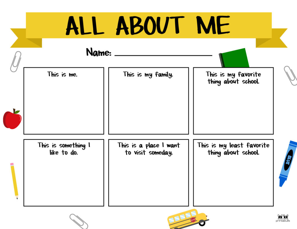 Printable All About Me Worksheet-Page 22