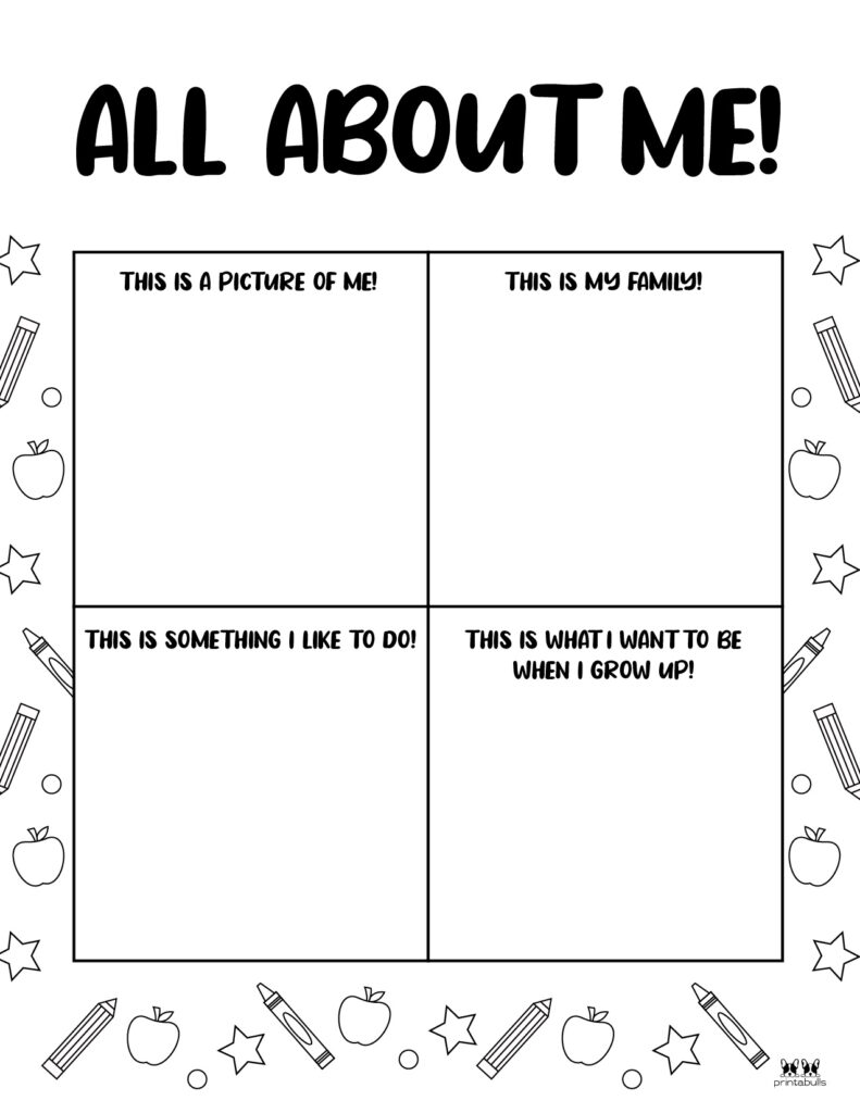 Printable All About Me Worksheet-Page 3