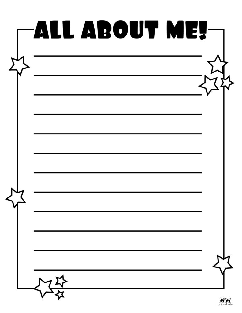 Printable All About Me Worksheet-Page 4