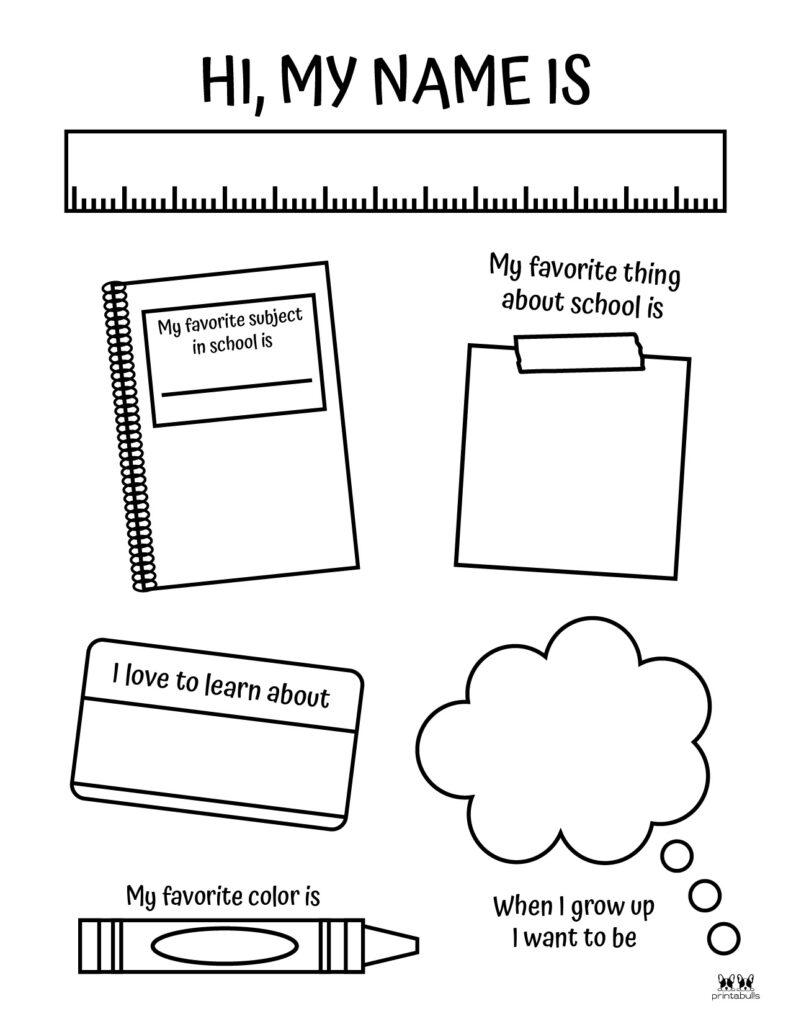 Printable All About Me Worksheet-Page 7
