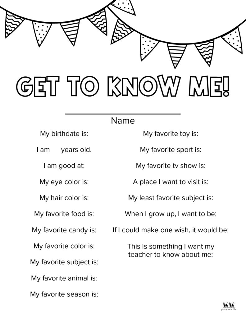 Printable All About Me Worksheet-Page 8