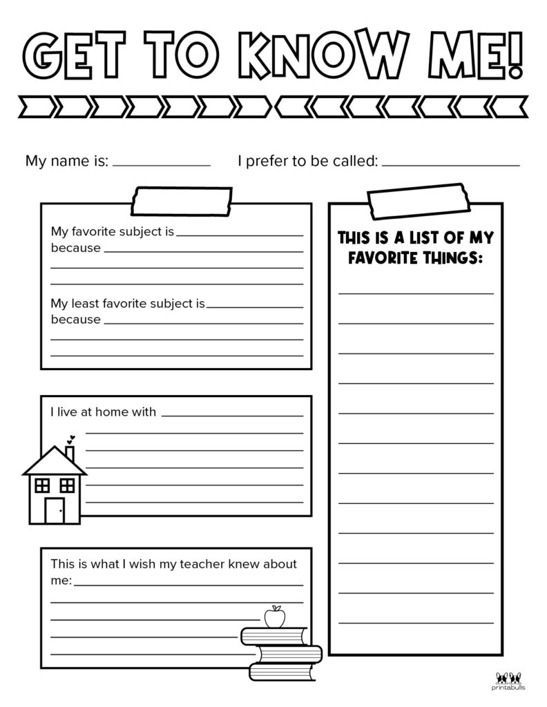 Printable All About Me Worksheet-Page 9