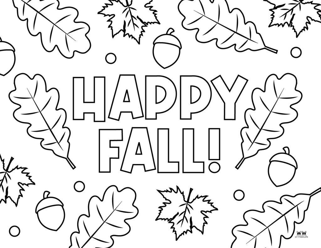 Printable Leaf Coloring Page-Page 1