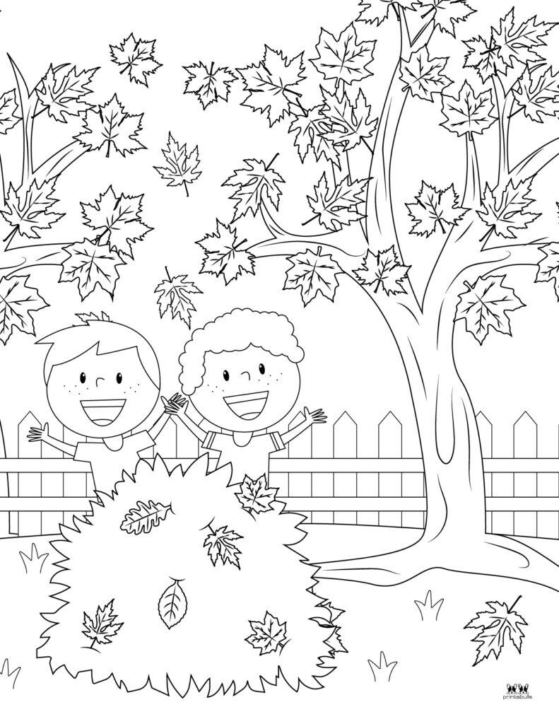 Printable Leaf Coloring Page-Page 11