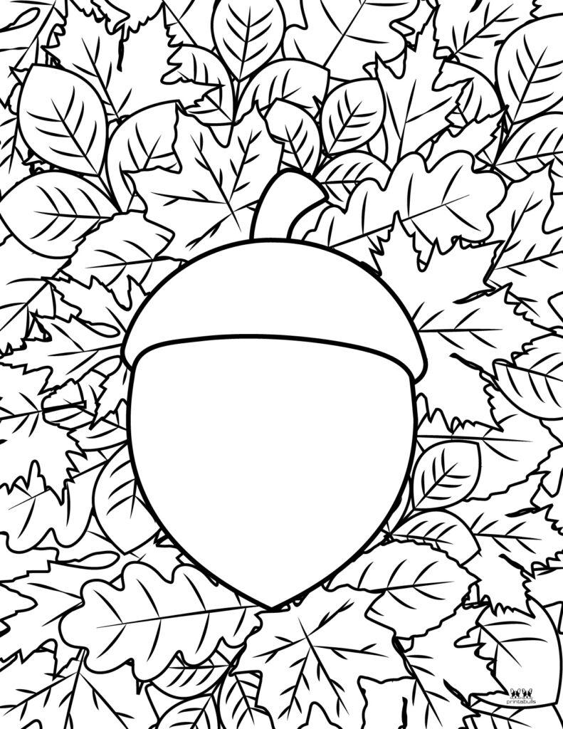 Printable Leaf Coloring Page-Page 4