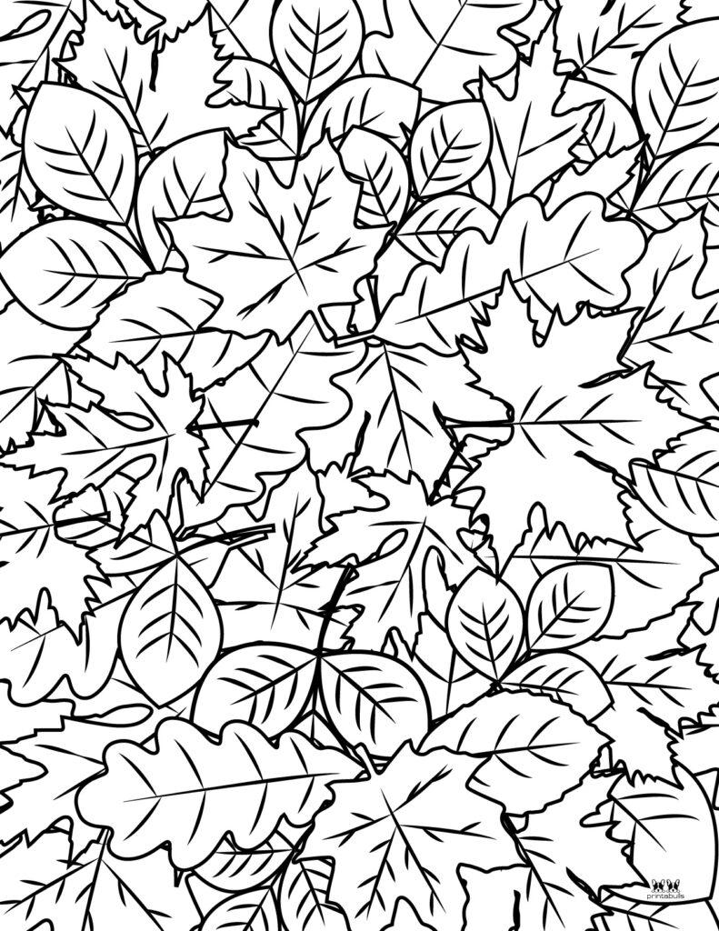 Printable Leaf Coloring Page-Page 5