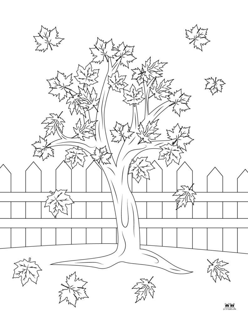 Printable Leaf Coloring Page-Page 6