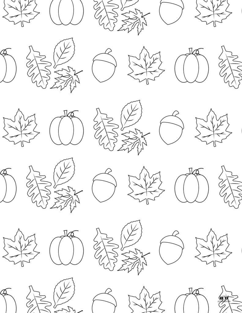 Printable Leaf Coloring Page-Page 7