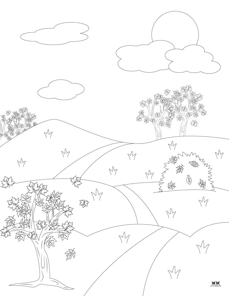 Printable Leaf Coloring Page-Page 9
