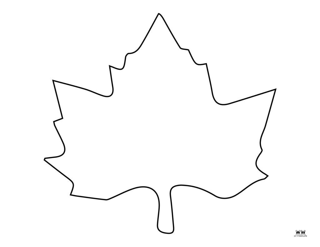 Printable Leaf Template-Page 1