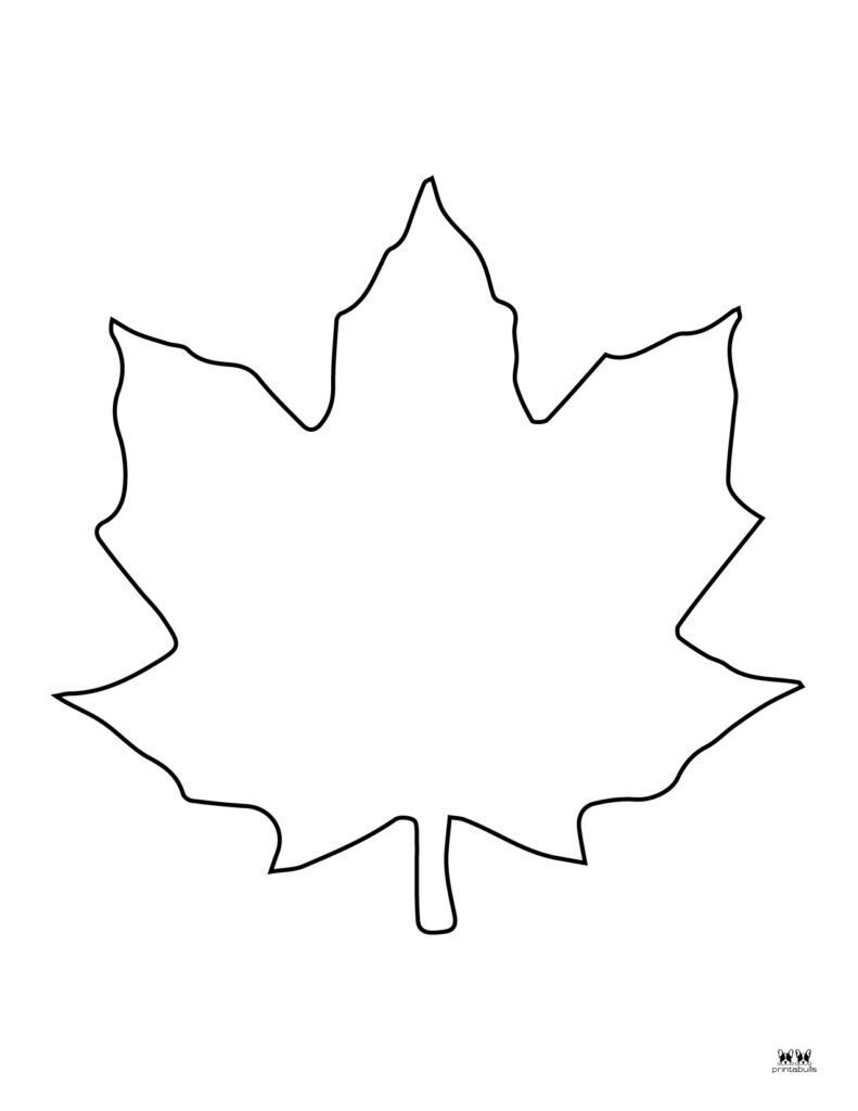 Printable Leaf Template-Page 2