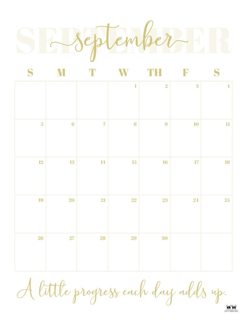 Printable September Calendar-Style 13