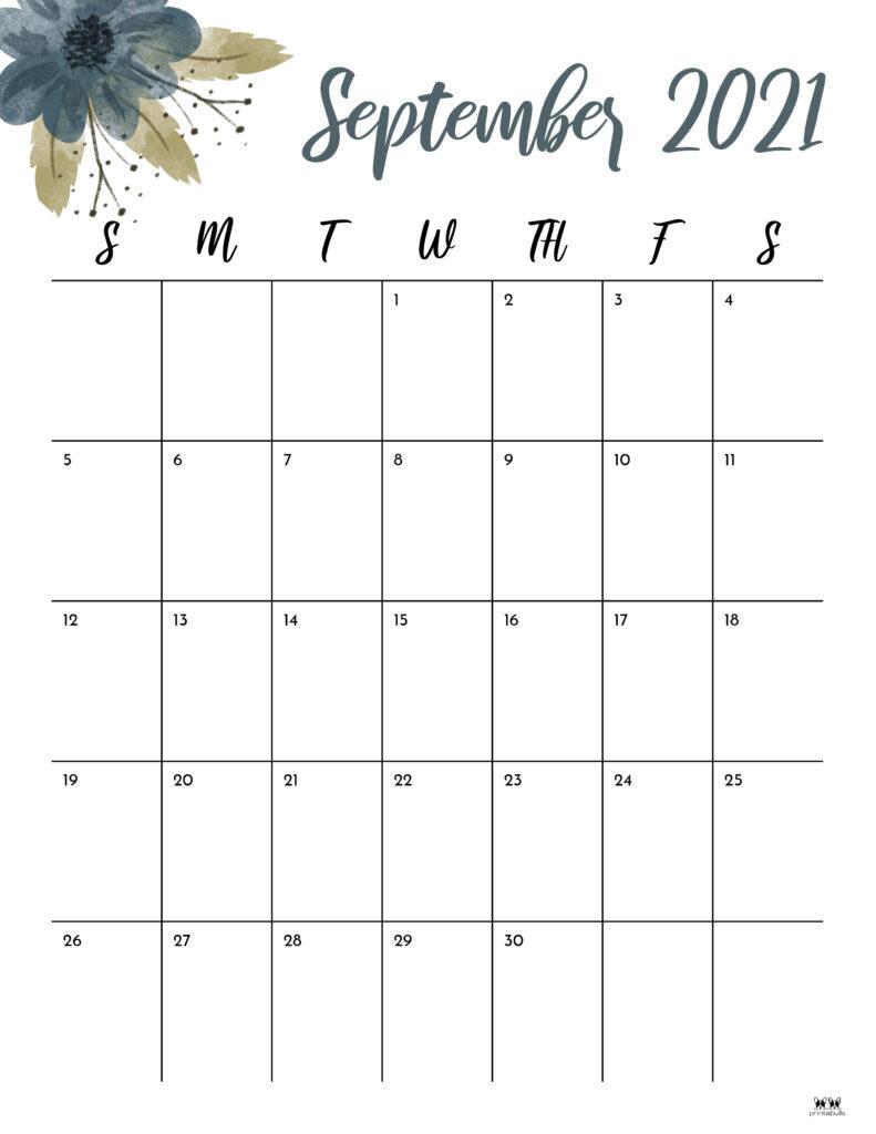 Printable September Calendar-Style 15