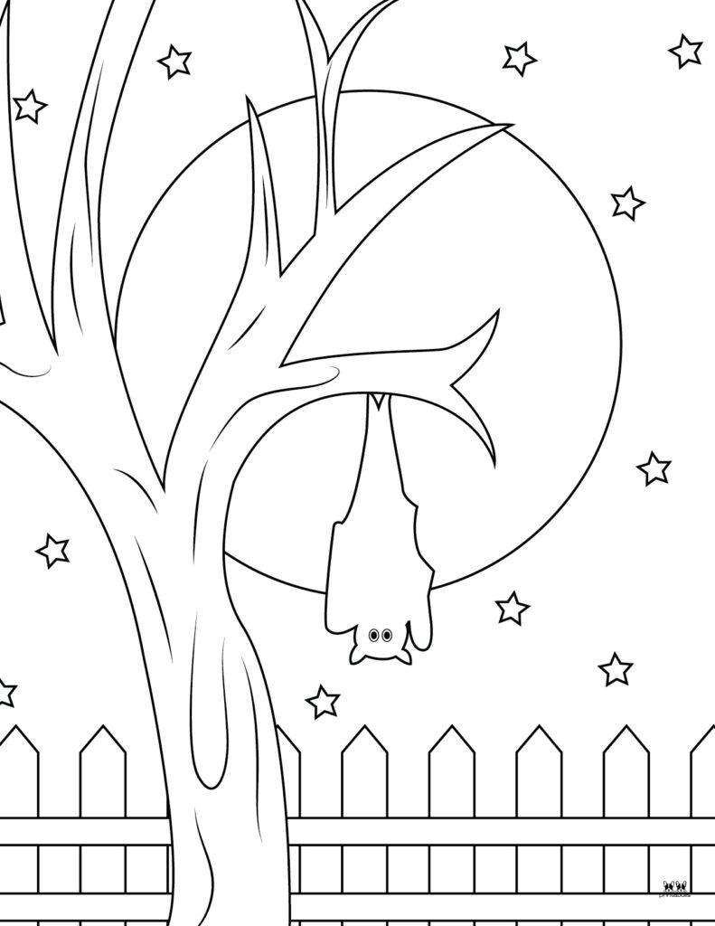 Printable Bat Coloring Page_Page 19