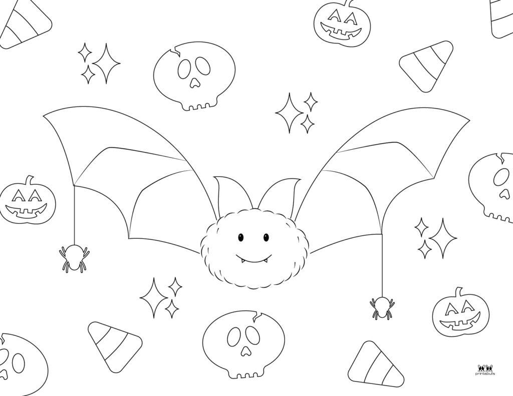 Printable Bat Coloring Page_Page 29