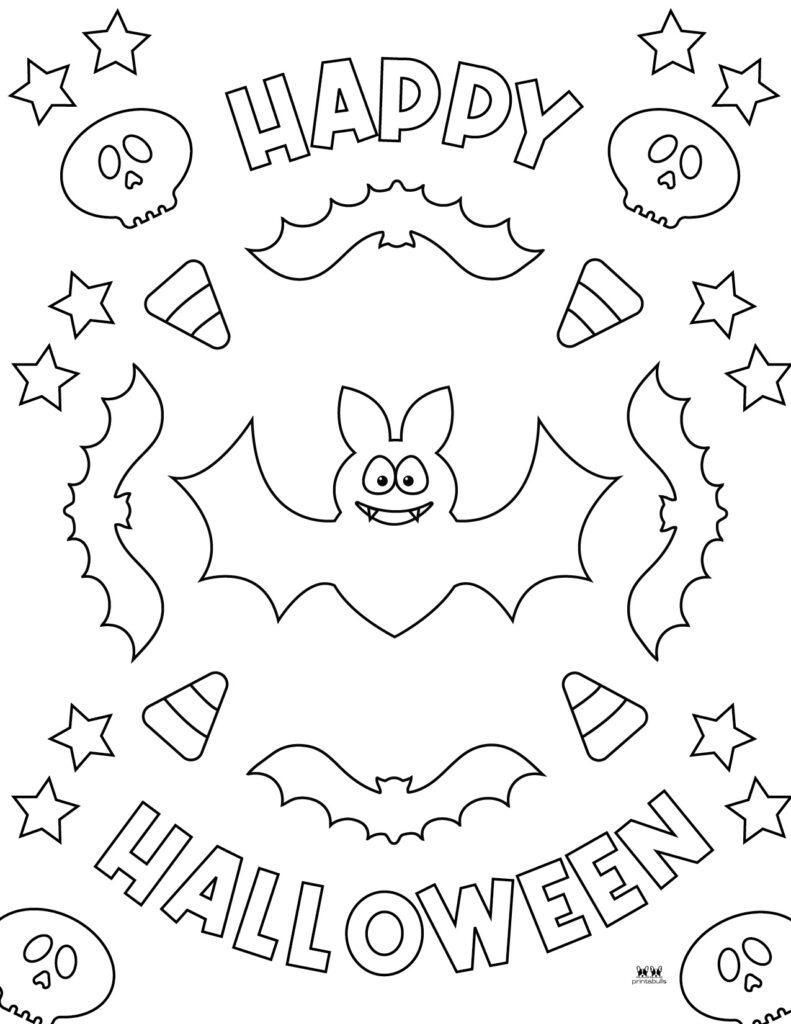 Printable Bat Coloring Page_Page 32