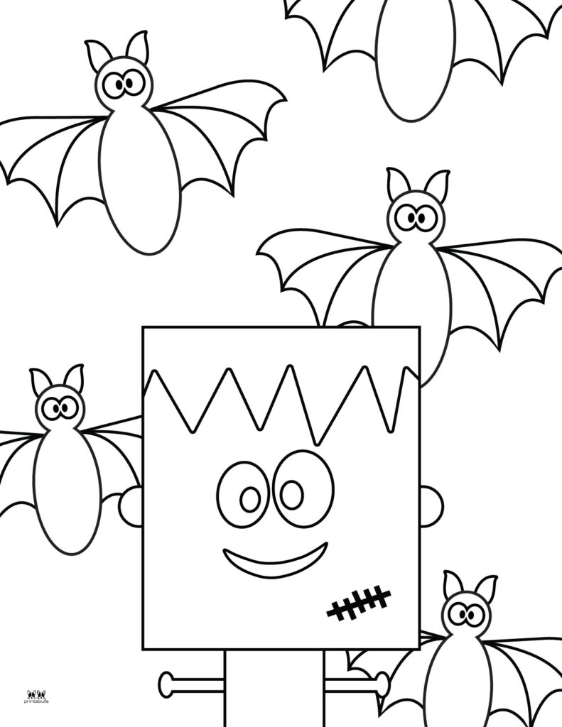 Printable Bat Coloring Page_Page 33