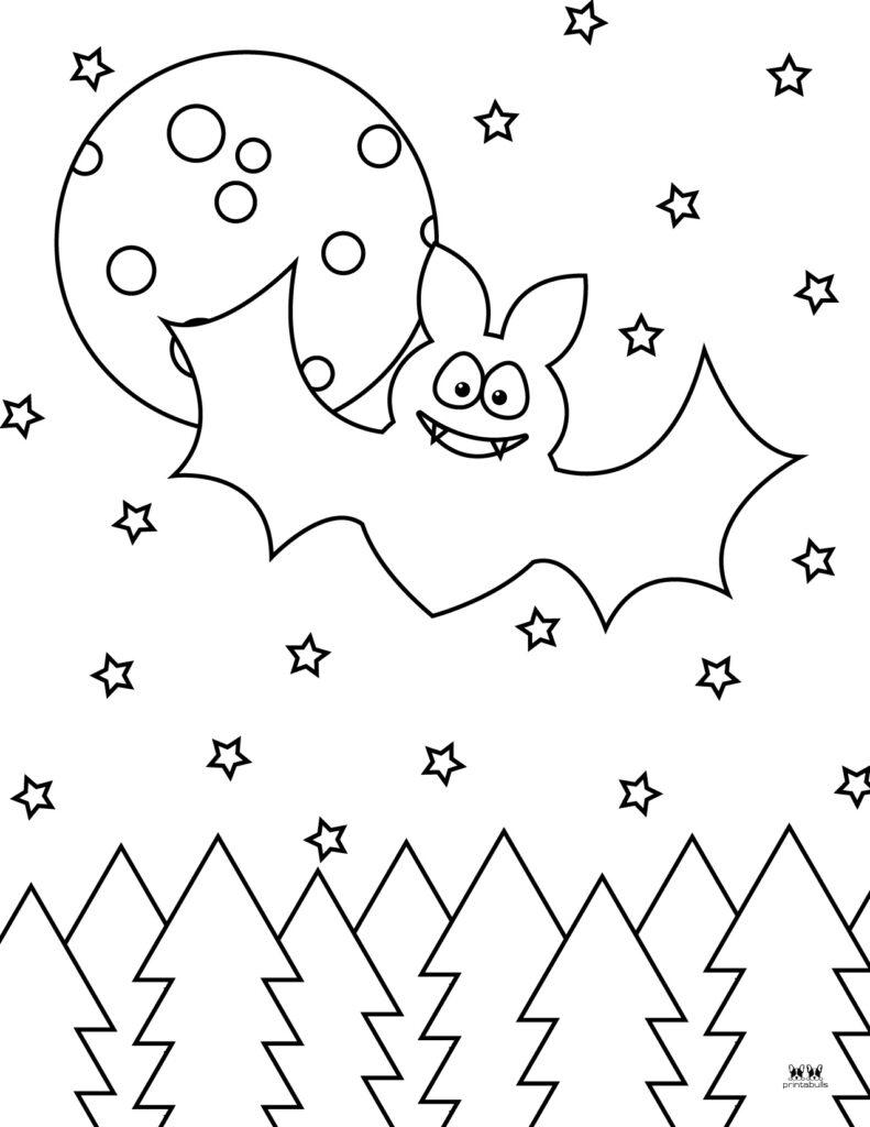 Printable Bat Coloring Page_Page 34